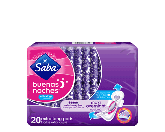 Saba® Buenas Noches® Maxi Overnight With Wings